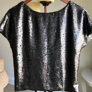 Sabine by Anthropologie Sequin Crop Top Medium